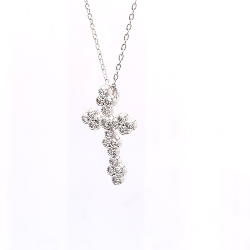 Jude Frances Diamond Cross Pendant