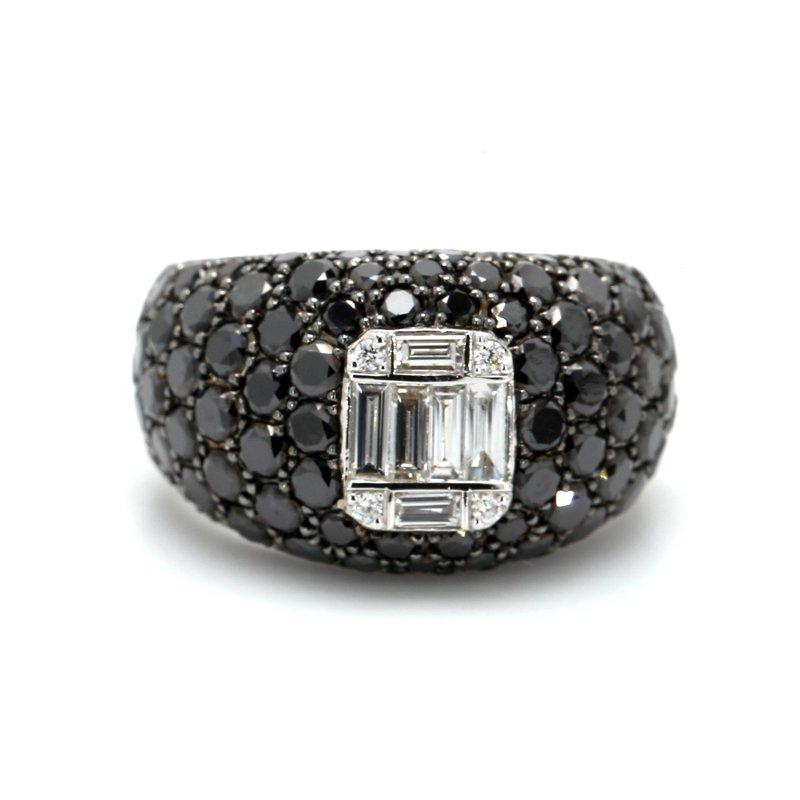 Spicer Greene Dome Black & White Diamond Ring