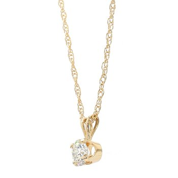 Diamond Solitaire Pendant