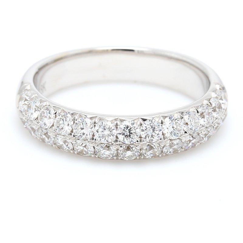 Spicer Greene Double Row Diamond Wedding Band