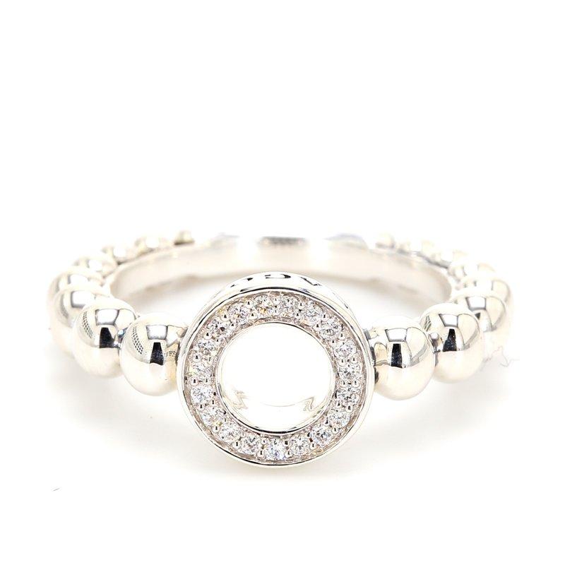 Lagos Sterling Silver Pave Diamond Ring