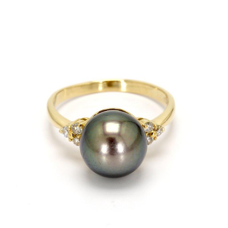 Estate Black South Sea Pearl Ring