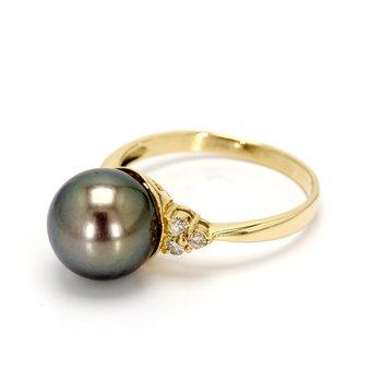Black South Sea Pearl Ring