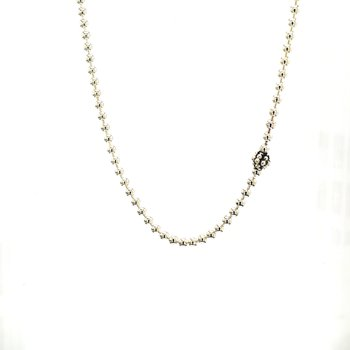Silver Station Chain Necklace