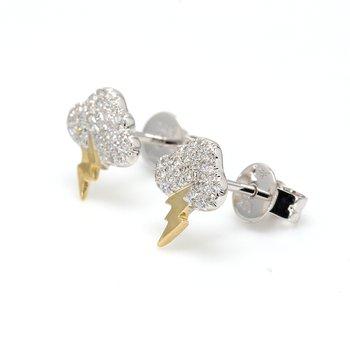Storm Cloud Diamond Stud Earrings