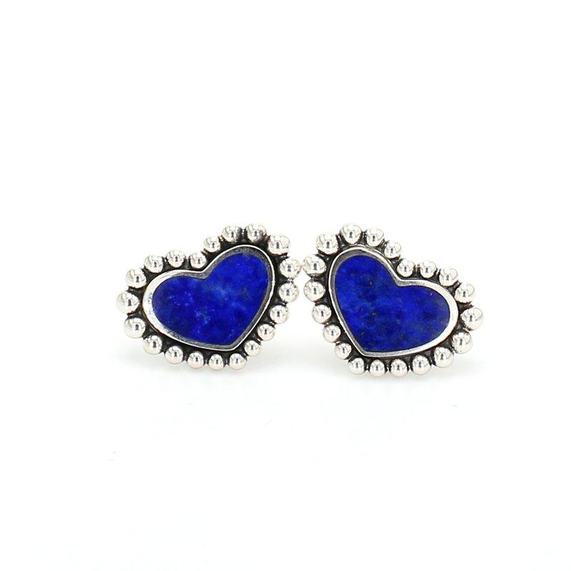 Lagos Lapis Lazuli Heart Earrings