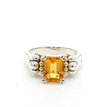 Citrine Caviar Ring