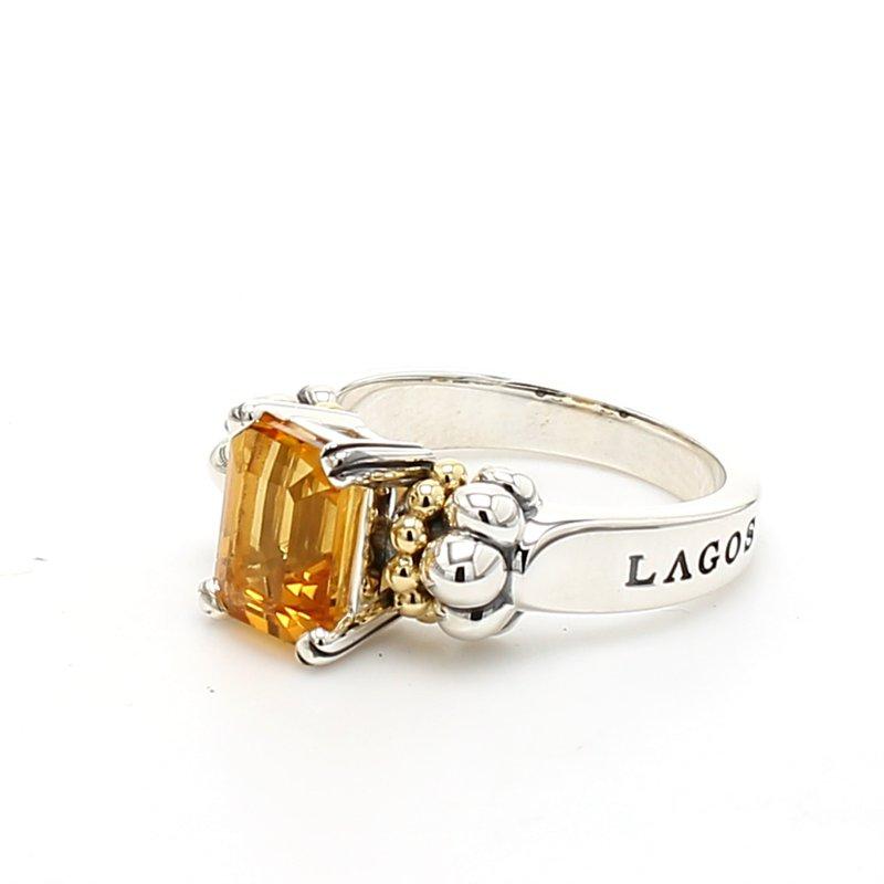 Lagos Citrine Caviar Ring