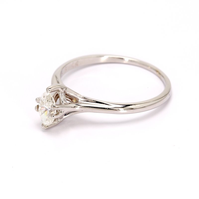 Estate Marquise Cut Solitaire Engagement Ring