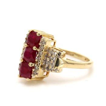 Ruby 3 Stone Ring