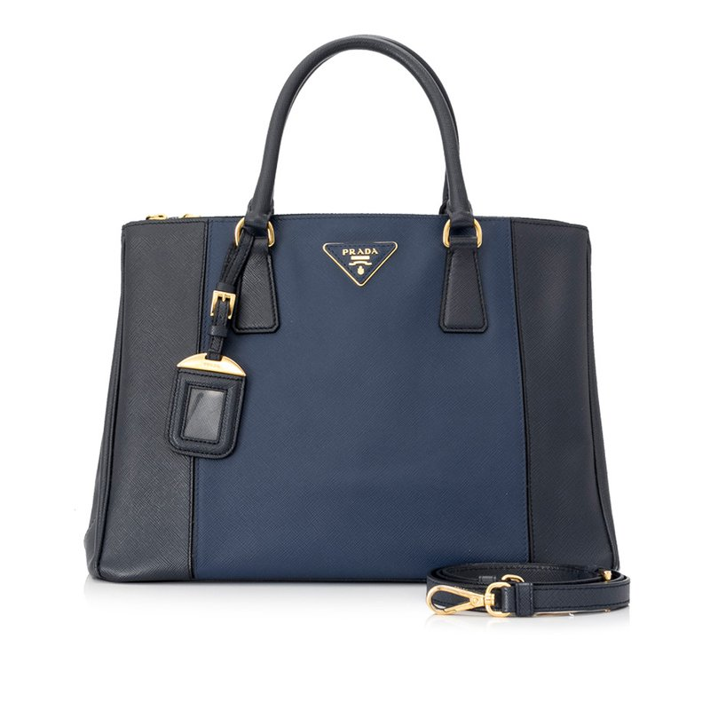 Pre-Owned Luxury Handbags Prada Saffiano Galleria Satchel
