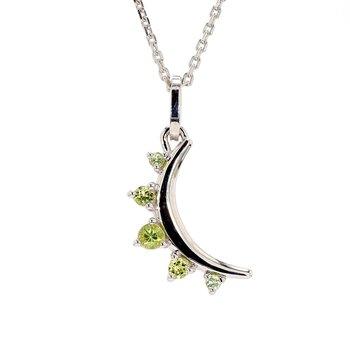 Peridot Moon Pendant