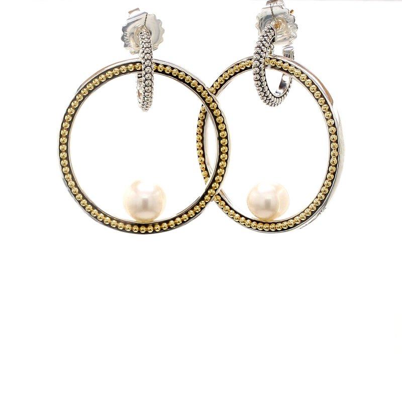 Lagos Freshwater Pearl Hoop Earrings
