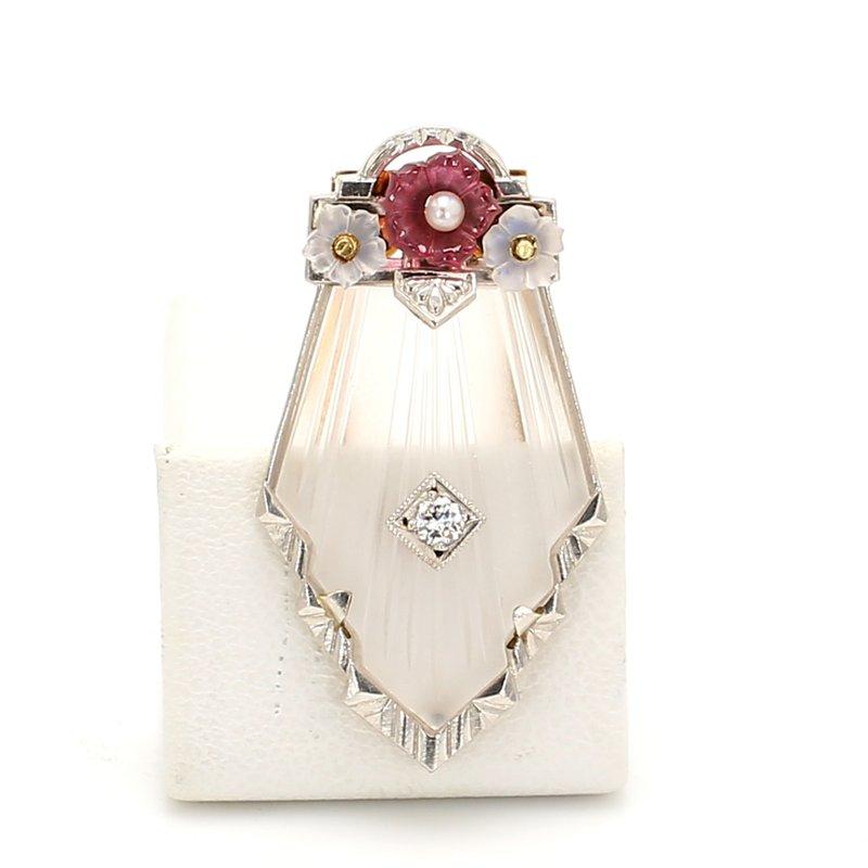 Estate Art Deco Diamond Pin