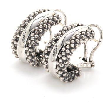 Caviar Huggie Earrings