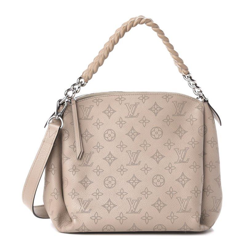 Pre-Owned Luxury Handbags Louis Vuitton Mahina Babylone Chain BB Galet