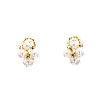 Akoya Cultured Pearl Omega Back Earrings