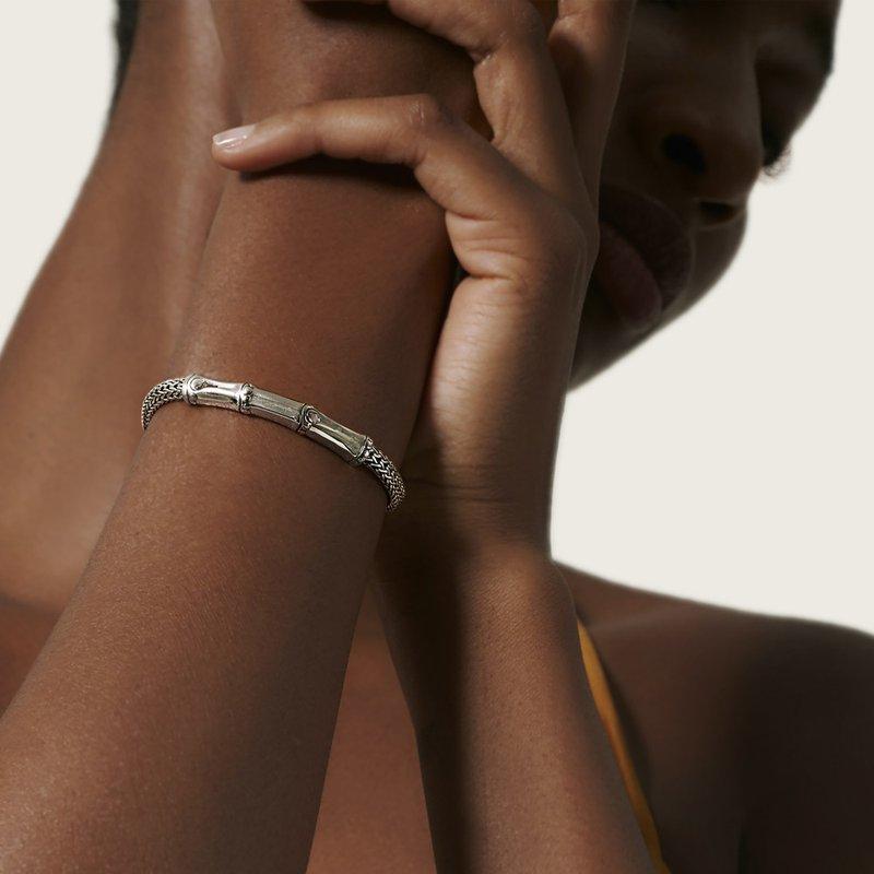 John Hardy Silver Bamboo Bracelet