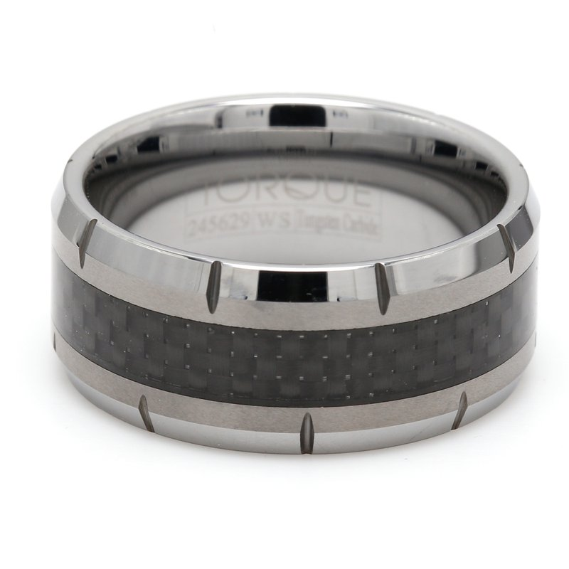 Torque Tungsten & Carbon Fiber Wedding Band