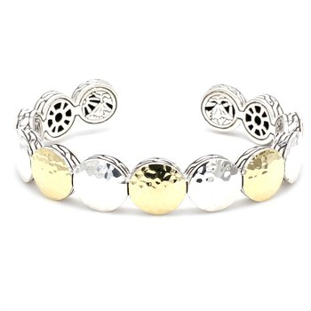 Silver Dot Bangle Bracelet