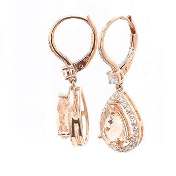 Morganite Dangle Earrings