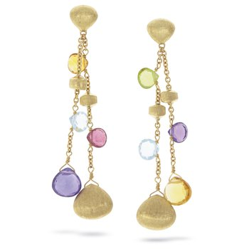 Paradise Dangle Gemstone Earrings