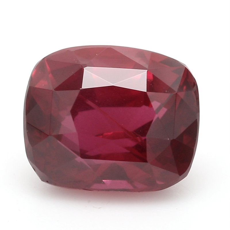 Color by Spicer Greene One Cushion Cut Ruby Corundum