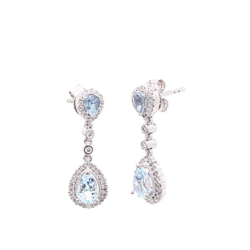 Color by Spicer Greene Aquamarine Dangle Earrings