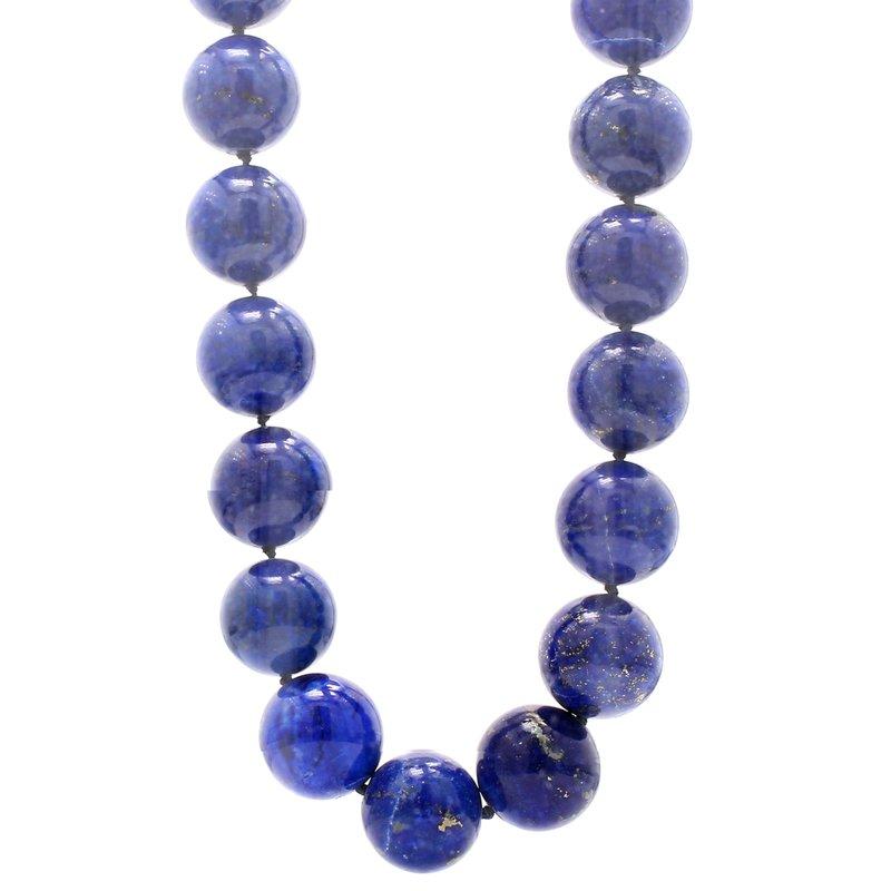 Estate Lapis Lazuli Beaded Strand Necklace