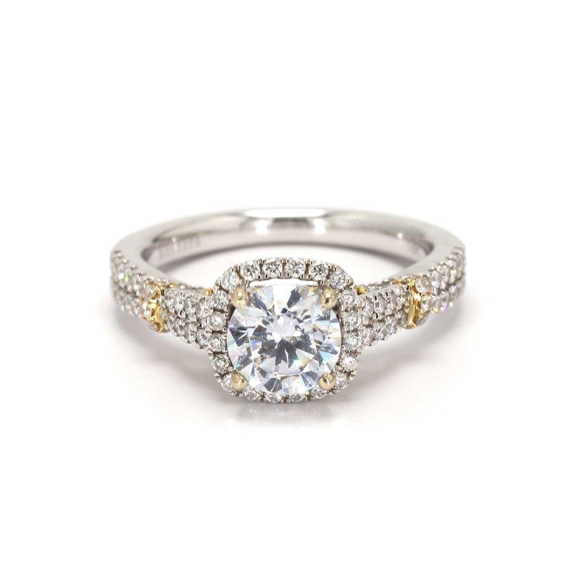 Kirk Kara Halo Semi Mount Engagement Ring