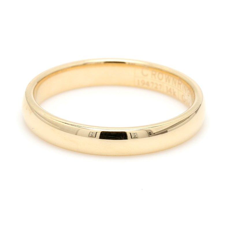 CrownRing 3mm 14 Karat Gold Wedding Band