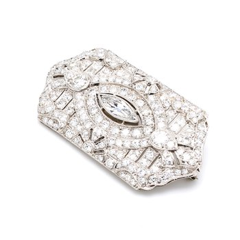 Art Deco Diamond Pin