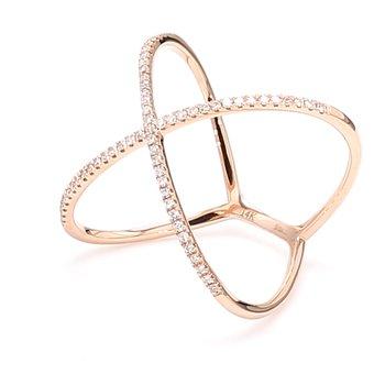 "Diamond ""X"" Ring"