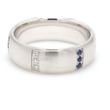 Men's White Gold Diamond & Diamond Wedding Band