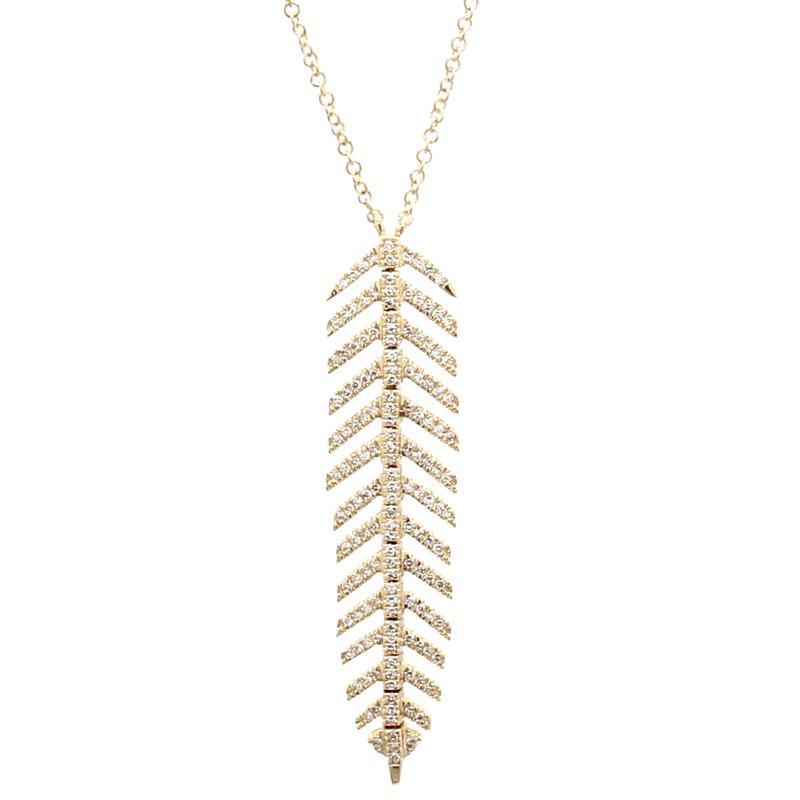 Spicer Greene Diamond Feather Pendant