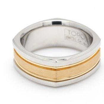 Cobalt & Gold Wedding Band