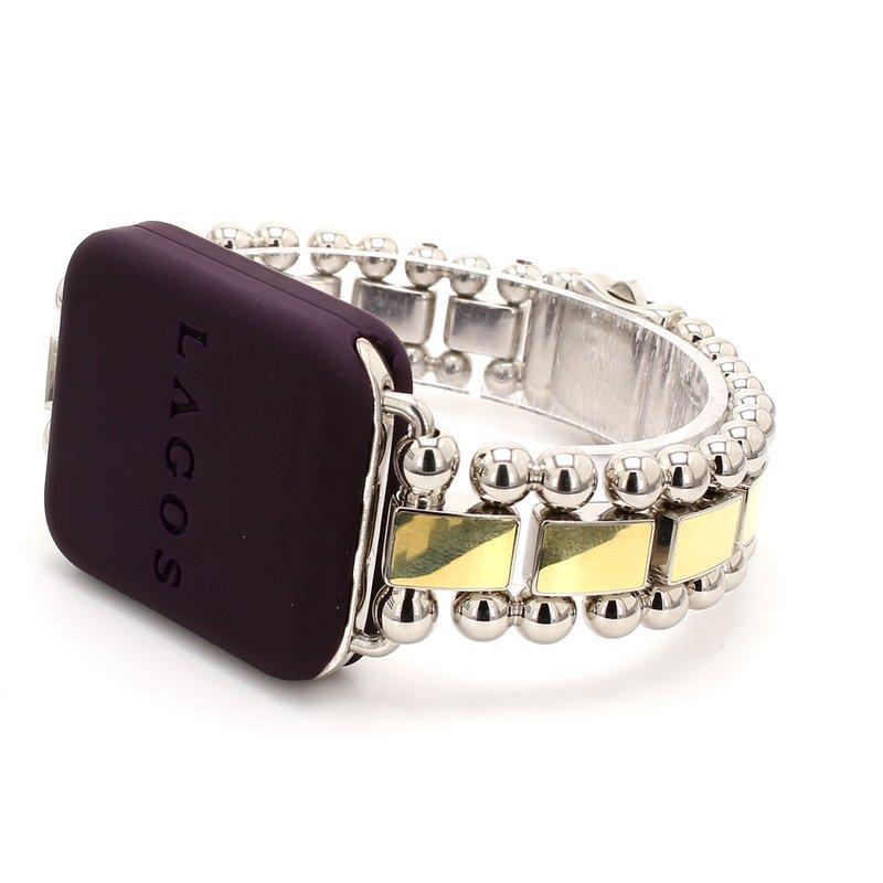 Lagos Two-Tone Smart Caviar Watch Bracelet