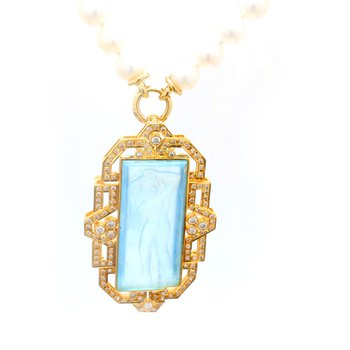 Aquamarine Convertible Brooch/Pendant