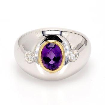 Amethyst Straight Ring