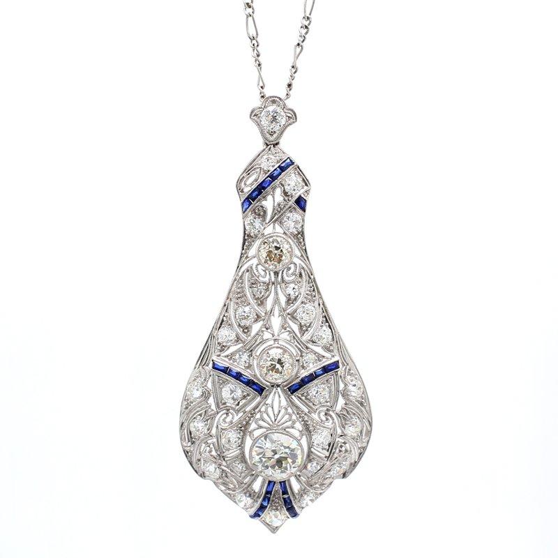 Estate Diamond Drop Pendant