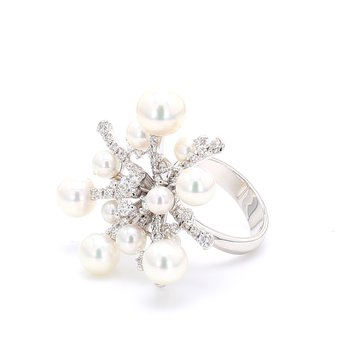 """Splash"" Akoya Cultured Pearl Ring"