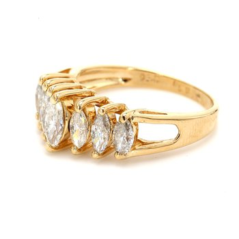 Marquise Cut 7 Stone Engagement Ring
