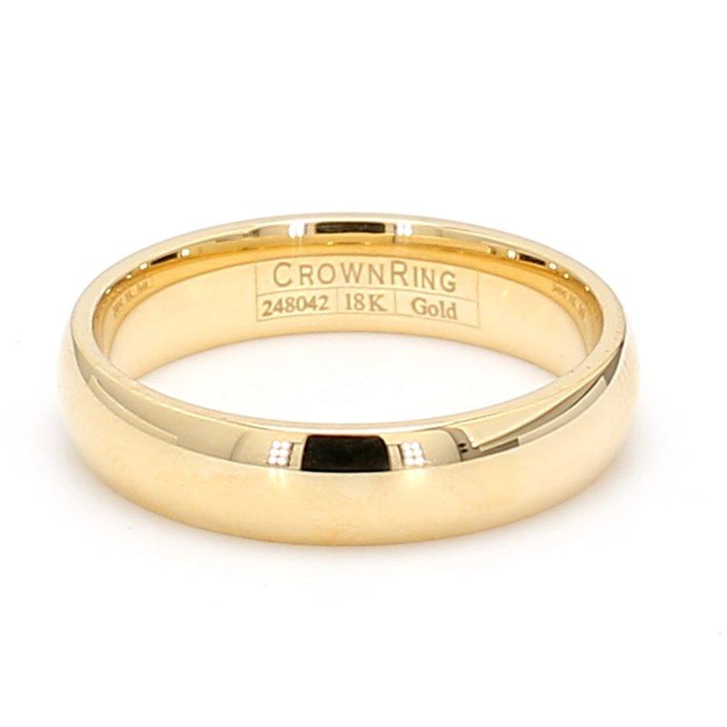 CrownRing 5mm 18 Karat Gold Wedding Band
