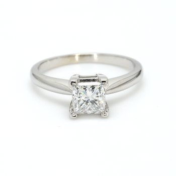 Princess Cut Classic Solitaire Engagement Ring