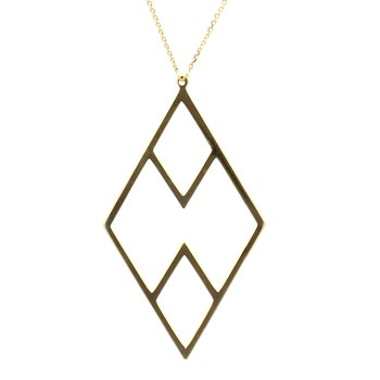 Geometric Gold Pendant