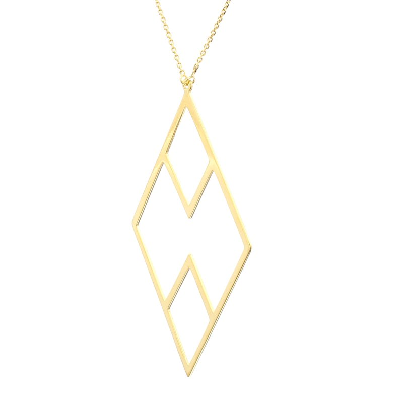 Spicer Greene Geometric Gold Pendant