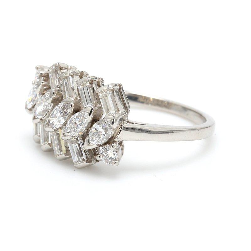 Estate Vintage Zig Zag Diamond Ring