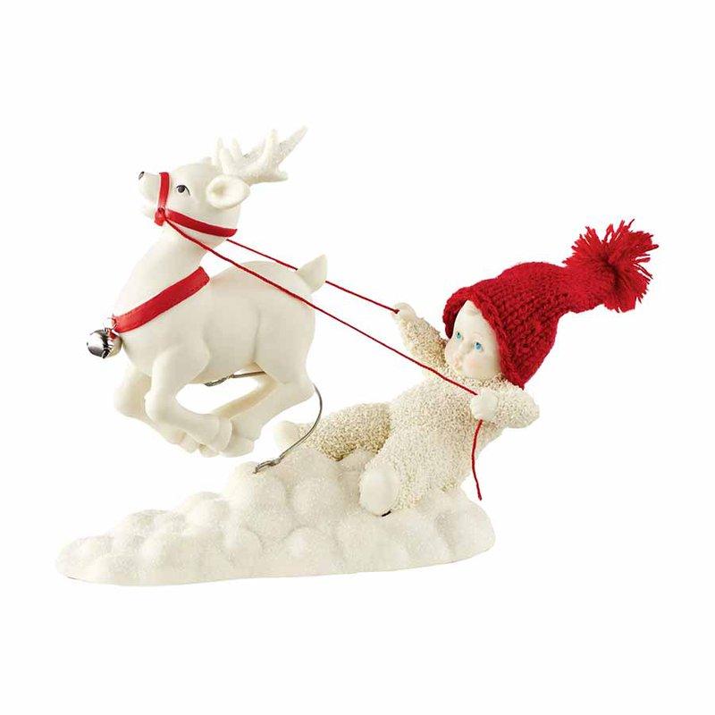 Snowbabies Reigning My Reindeer