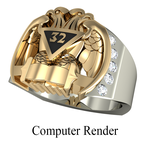 Shriner Jewelry Masonic Ring Style 2000