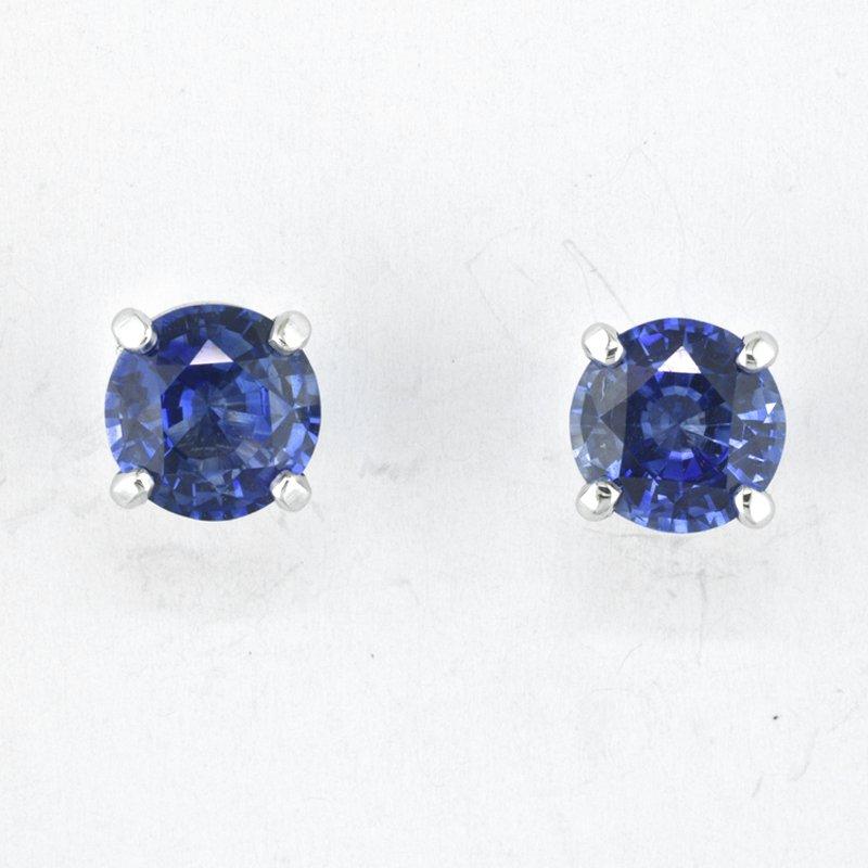 Faini Blue Sapphire Stud Earrings